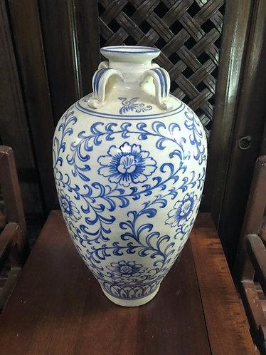 Handpainted b/w old vase