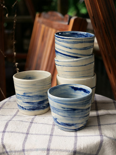 Marbled sky blue cup(S)