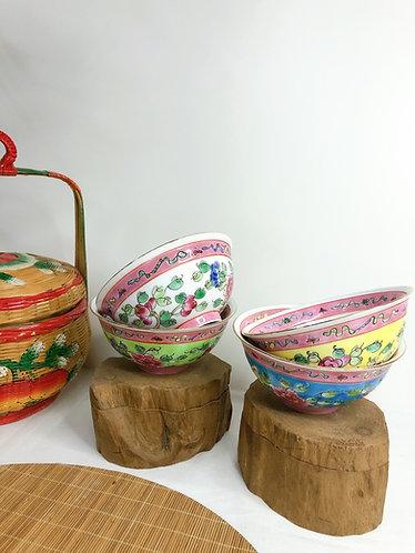 Peranakan Bowl - Full Peony Series bowl (5 colours)