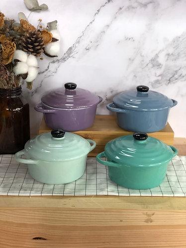 Round casserole with lid (Medium x 4 colour)