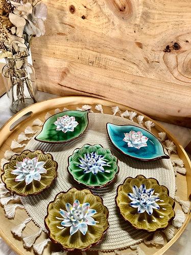 Handmade flower x incense stick holde