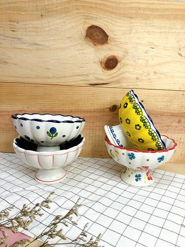 Ice cream x tall leg bowl (5 designs)