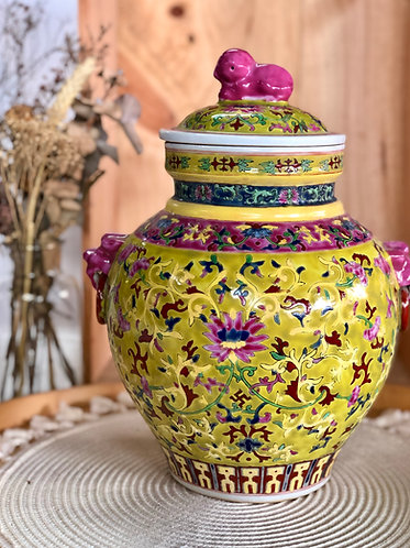 Peranakan inspired Jar (2 colours)