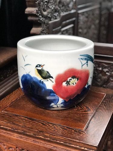Handpainted tall bowl #2