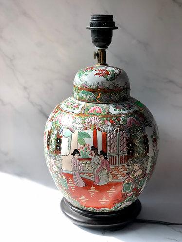 Handpainted round lamp