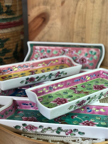 Peranakan rectangle plate (6 colours)