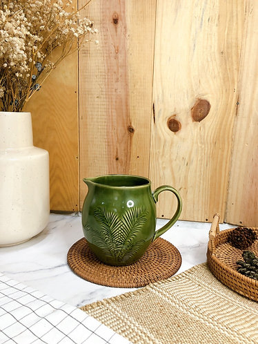 Green glazed jug