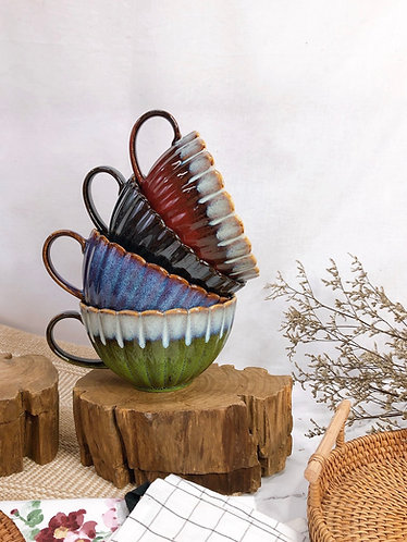 Scallop x Coloured | Cup with Handle ( 4 colours)