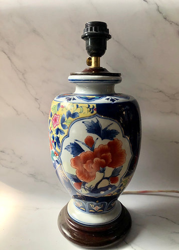 Handpainted floral lamp