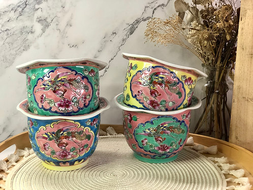 Peranakan pot (4 colours)