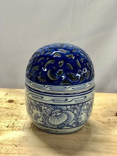 Blue & white incense burner