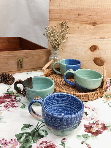 181ml-200ml | Blue cup with bean ( 4 designs)