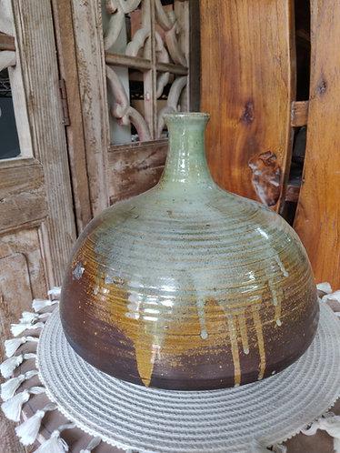 Sage Green Drip Vase