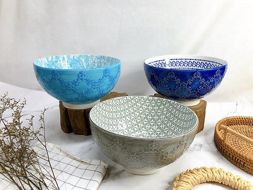 Texture x printed L bowl (6 designs)