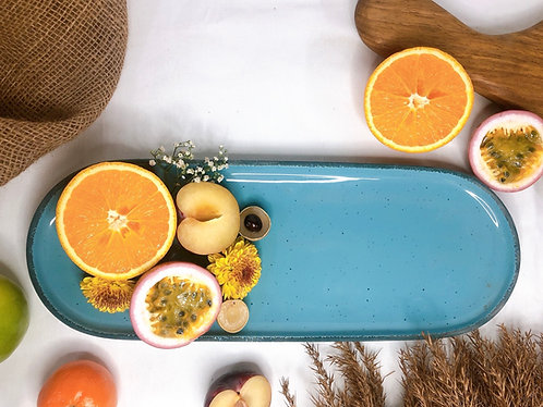 Blue rectangle rounded tray
