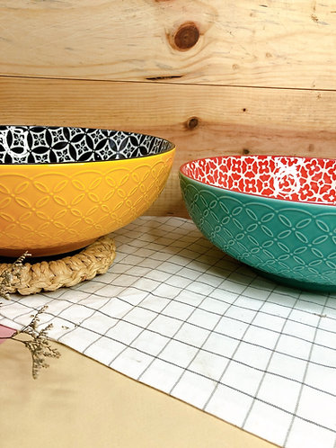 Double coloured x pattern bowl (big) - ( 2 prints)
