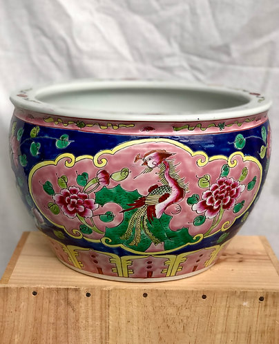 Peranakan fish bowl ( 2 sizes)