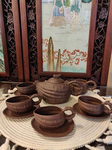 Bamboo Teapot Set