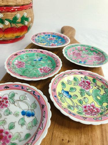 Peranakan full peony x mini plate (5 colours)