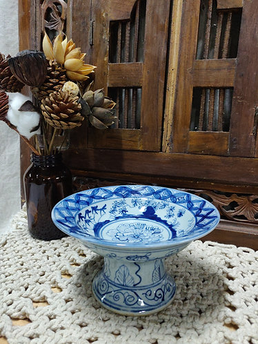 Blue White Small Fruit Plate