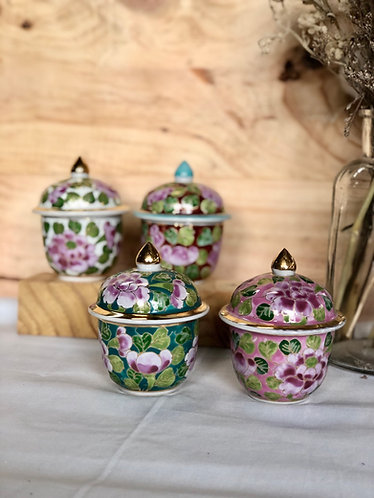 Peranakan inspired ware with lid (4colours)