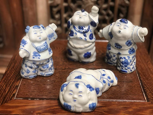 Blue & White ugly but cute figurines
