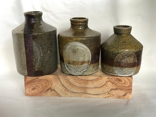 Dragon kiln fired Vases in 3 sizes