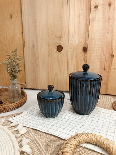 Scallop x blue | jar with lid ( 2 sizes)