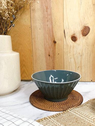 Carved lines x salad Shape bowl