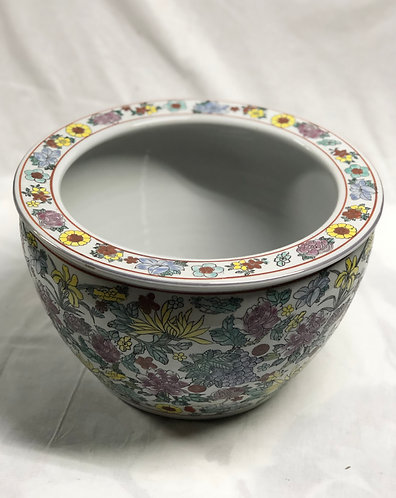 Handpainted Coloured floral bowl ( 5 Colours)