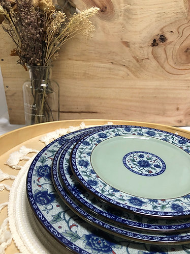Peony round plate (4 sizes)