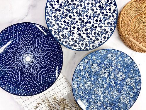 Blue & white XL Plate (3 designs)