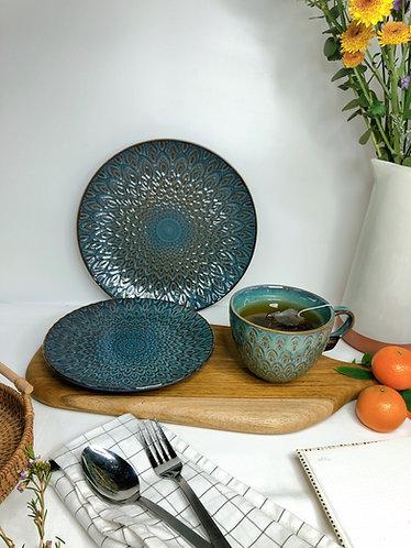 Peacock series | (3 types of wares - Mug & plates)