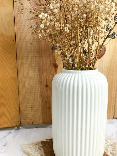 Carved lines vase