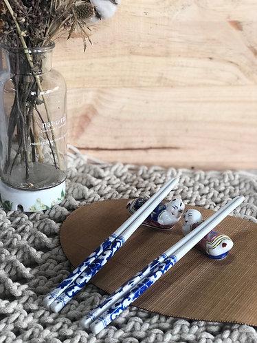 Ceramics chopstick & rest