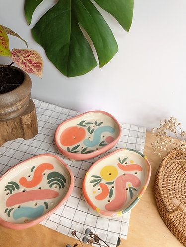 Hand painted x Soap dish (3 designs)