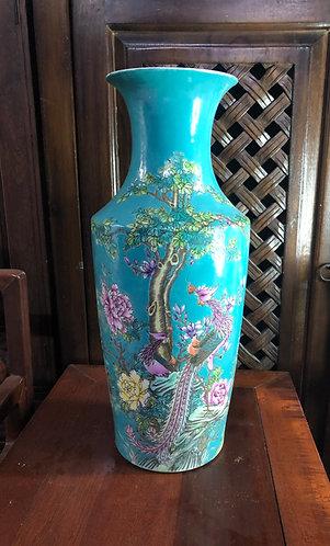 Handpainted Phoenix x Peony vase