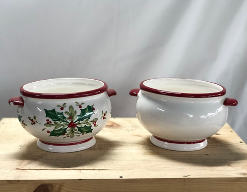 Red and white pot (2 designs)