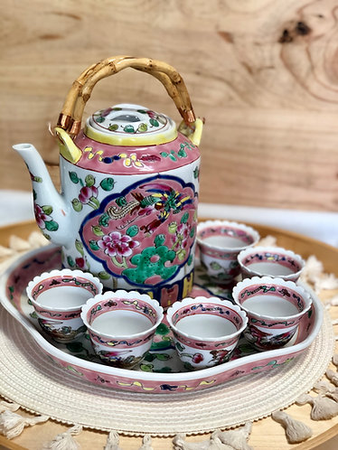 Peranakan Teapot Set #C (2 Designs)