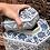 Thumbnail: Blue and white x rect. jar