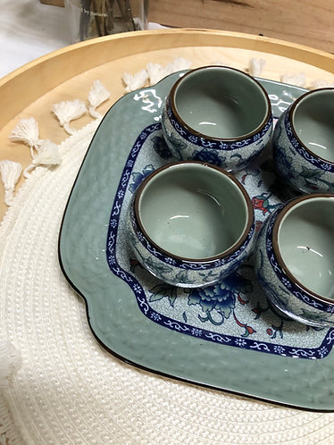 Tea cups + Tray set