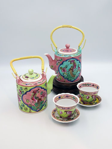 Peranakan teapot (4 sizes)