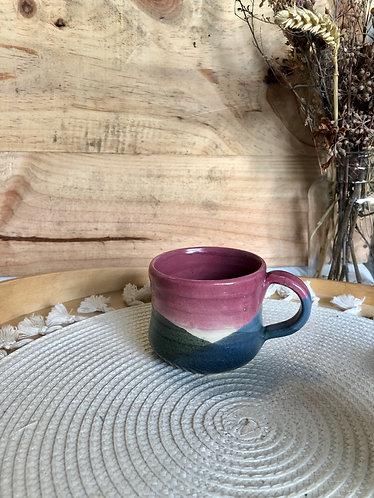 Pinkish x glaze cup