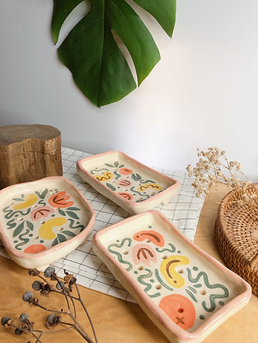 Hand painted Soap dish (3 designs0