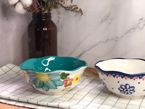 Colour my life | Floral rim bowl  (2 colours)