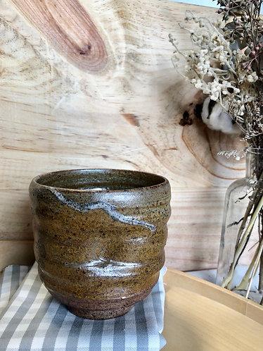 Dragon kiln thumb press fired cup