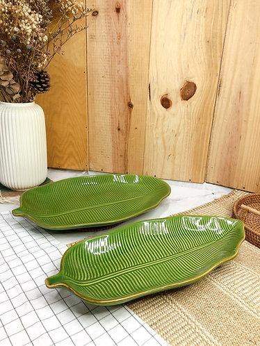 Leaf long plate #3  (2  sizes)