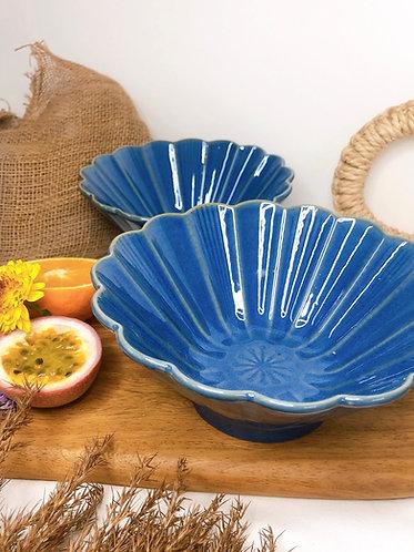 Flower x galaxy blue bowl