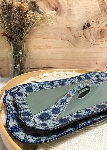 "Peony ""handbag"" platter (2 sizes)"