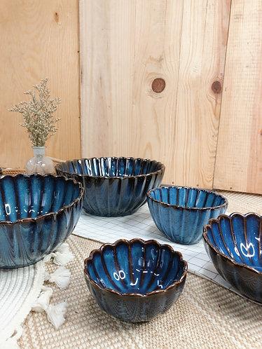 Scallop x blue   Bowl (5 sizes)